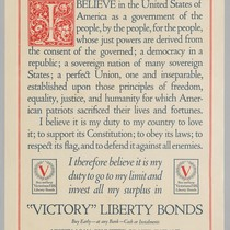 "The American's Creed: ""Victory"" Liberty Bonds"