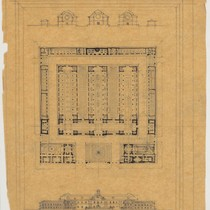 Architectural drawing of National Painting House