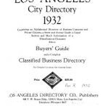 Los Angeles City Directory, 1932