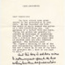 Copy of a letter from Carl Sandburg to Sophocles, May 1, 1961