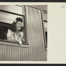Closing of the Jerome Center, Denson, Arkansas. An attractive Miss, aboard the ...