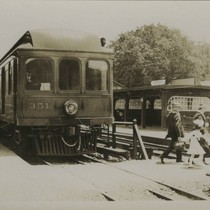 Northwestern Pacific Railroad, Fairfax depot, Marin County, California, circa 1923 [photograph]