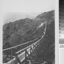 700' suspension bridge over gulley