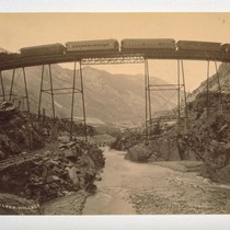 High Bridge in Loop [Union Pacific Railway, near George Town Colorado]. W.H. ...