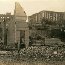 Fairmont Hotel and Flood Mansion from Bush Street, San Francisco Earthquake and ...