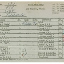WPA bock face card for household census (block 2142) in Los Angeles ...