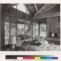 Delcina Bair Residence, interior, Mill Valley, c. 1955