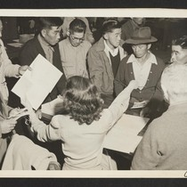Byron, Calif.--These field laborers of Japanese ancestry at the W.C.C.A. Control Station ...