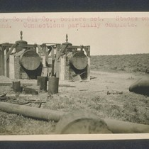 California Counties Oil Company Boilers set. Stacks on the ground. Connections partially ...