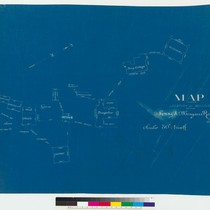 Blueprint map showing location of the buildings on the Fanny A. Morgan ...