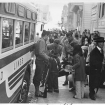 The Japanese quarter of San Francisco on the first day of evacuation ...