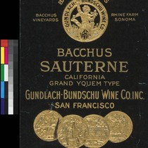 Bacchus Wines California Bacchus Sauterne : California Grand Yquem type ; Bacchus ...