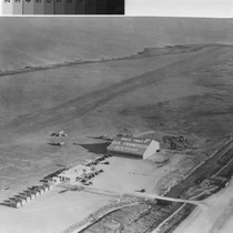 Aerial view of Mills Field Municipal Airport, ca. 1927