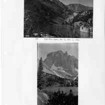 Big Pine Lake, No. 3 & North Palisade or Temple Crag on ...
