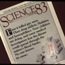 Cover of Science 83 with AIDS headline