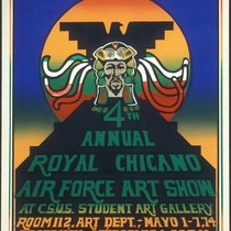 4th Annual Royal Chicano Air Force Art Show, Announcement Poster for