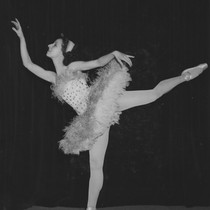 Marjorie Hall performing at a dance recital