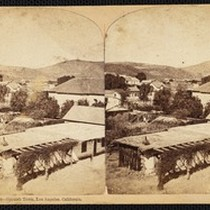 """2004---Spanish Town, Los Angeles, California"", stereoview, circa 1878"