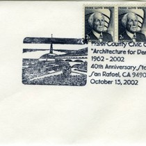 Commemorative postmark from the 40th anniversary of completion of the Marin County ...