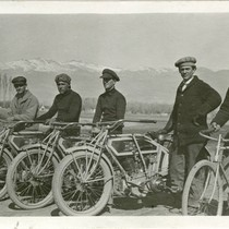 Bishop, California . Motorcyclists