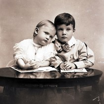 Allan Hancock [right] and younger brother Bertram, around 1880
