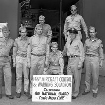 148th Aircraft Control and Warning Squadron group photo, California Air National Guard, ...