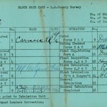 WPA block face card for household census (block 1004) in Los Angeles ...