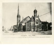 First Methodist Episcopal and German Evangelical Lutheran Churches, 1892