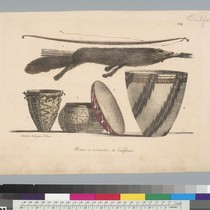 [Arms and utensils of California Indians]