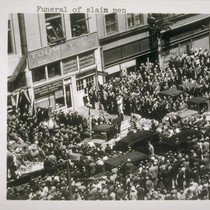 Funeral of slain men