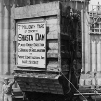 3 millionth cubic yard of concrete, Shasta Dam construction