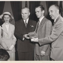Bill Henry with President Truman at the White House