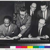 """Dr. Kwame Nkrumah and Mr. Edgar Kaiser sign Master Agreement in Accra, ..."