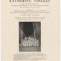 Address by Katherine Tingley, leader and official head of the Universal Brotherhood ...
