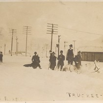 Breaking roads Truckee Cal. 1911