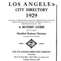 Los Angeles City Directory, 1929
