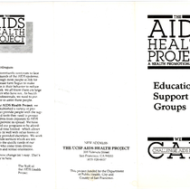 AIDS Health Project Educational Support Groups brochure