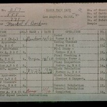 WPA block face card for household census (block 771) of 59th Place, ...