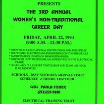 3rd Annual Women's Non-Traditional Career day flyer