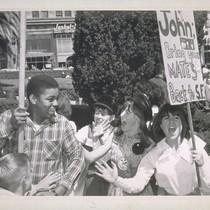 Beatles Fan Club, Bay Union Square (Two photos)