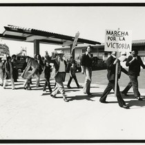 Activists marching in Santa Maria