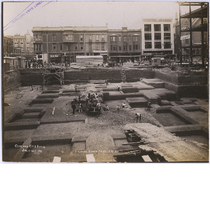 Foundation preparation for fifth Oakland City Hall, July 1911