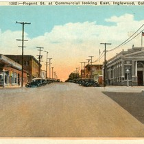 1302:--Regent St. at Commercial looking East, Inglewood, Calif