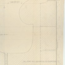 Architectural drawing of fountain base, Pasadena City Hall, right side of sheet ...