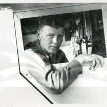 "Charles A. Lindbergh in Cockpit of ""The Spirit of St. Louis"""