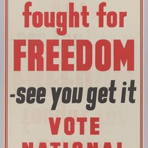 Britain fought for freedom-see you get it: Vote National