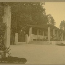 Gates and Pergola Mosswood Park [Mosswood Park located between Broadway and Webster ...