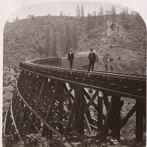 1233. The Trestle Bridge at Long Ravine, 878 feet long, and 120 ...