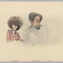 6/15/71 Attorney Howard Moore Jr and Angela Davis