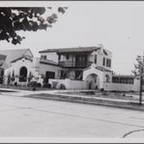 4th Avenue Mediterranean-style house, looking toward southwest from south of Santa Barbara ...